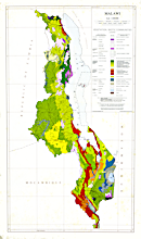 Malawi 1:1,000,000 map of Vegetative and Biotic Communities (1979)