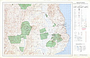 Malawi 1:50,000 map of Nkhata Bay region (1979)